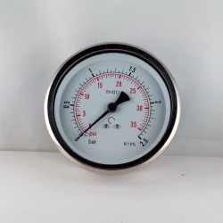 Glycerine filled pressure 2,5 Bar gauge diameter dn 100mm back