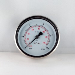 Glycerine filled pressure 10 Bar gauge diameter dn 100mm back