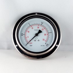 Glycerine filled pressure 2,5 Bar gauge diameter dn 100mm flange