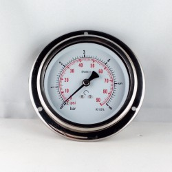 Glycerine filled pressure 6 Bar gauge diameter dn 100mm flange