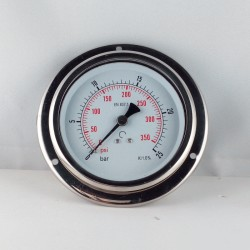 Glycerine filled pressure 16 Bar gauge diameter dn 100mm flange