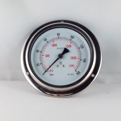 Glycerine filled pressure 160 Bar gauge diameter dn 100mm flange