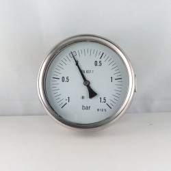 Manovuotometro glicerina -1+1,5 Bar diametro dn 100mm staffa