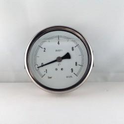 Manovuotometro glicerina -1+9 Bar diametro dn 100mm staffa