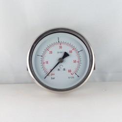 Glycerine filled pressure gauge 4 Bar diameter dn 100mm u-clamp