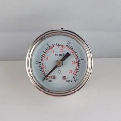 Stainless steel pressure gauge 2,5 Bar diameter dn 40mm back