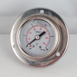 Manometro Inox 10 Bar diametro dn 40mm flangia