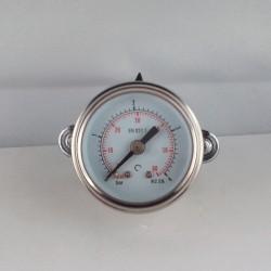 Stainless steel pressure gauge 4 Bar diameter dn 40mm u-clamp