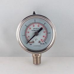 Manometro Inox 6 Bar diametro dn 40mm radiale