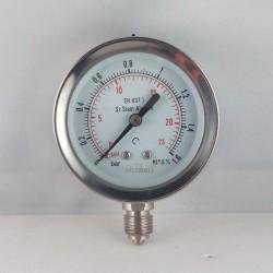 Manometro Inox 1,6 Bar diametro dn 63mm radiale