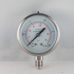 Manometro Inox 2,5 Bar diametro dn 63mm radiale