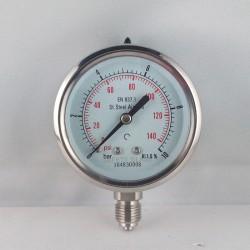 Manometro Inox 10 Bar diametro dn 63mm radiale
