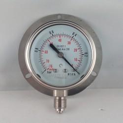 Vuotometro Inox -1 Bar dn 63mm flangia parete