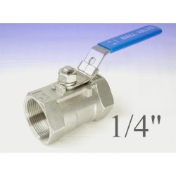 """Reduce bore stainless steel ball valves 1/4""""bsp"""