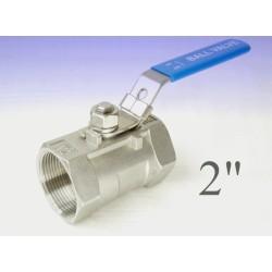 """Reduce bore stainless steel ball valves 2""""bsp"""