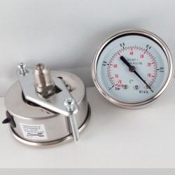 Stainless steel vacuum gauge -1 Bar diameter dn 63mm back