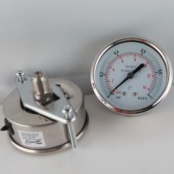 Manometro Inox 1 Bar diametro dn 63mm staffa