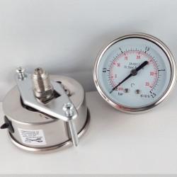 Stainless steel pressure gauge 2,5 Bar dn 63mm u-clamp