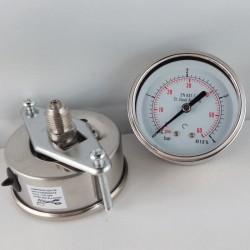 Stainless steel pressure gauge 4 Bar dn 63mm u-clamp