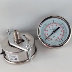 Stainless steel pressure gauge 6 Bar dn 63mm u-clamp