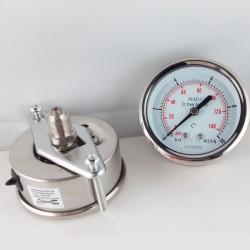Stainless steel pressure gauge 10 Bar dn 63mm u-clamp