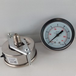 Stainless steel pressure gauge 16 Bar dn 63mm u-clamp