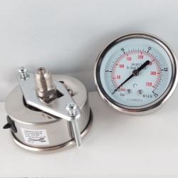 Stainless steel pressure gauge 25 Bar dn 63mm u-clamp