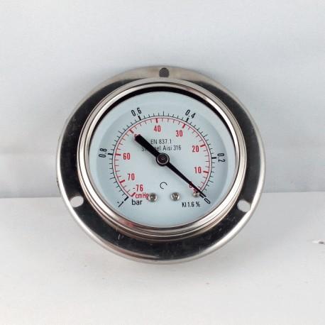 Stainless steel vacuum gauge -1 Bar dn 63mm flange