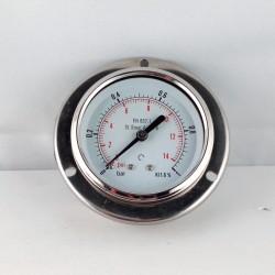 Stainless steel pressure gauge 1 Bar dn 63mm flange