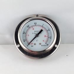 Stainless steel pressure gauge 1,6 Bar dn 63mm flange