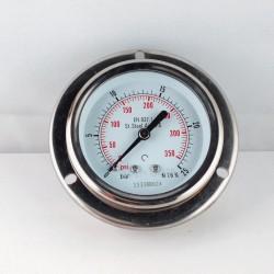 Stainless steel pressure gauge 25 Bar dn 63mm flange