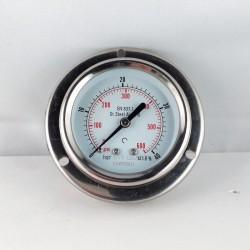 Manometro Inox 40 Bar diametro dn 63mm flangia