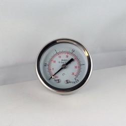Stainless steel pressure gauge 2,5 Bar diameter dn 50mm back
