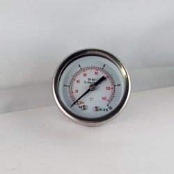 Stainless steel pressure gauge 10 Bar diameter dn 50mm back