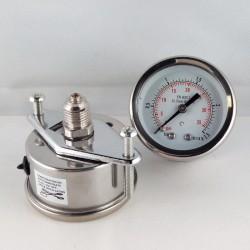 Stainless steel pressure gauge 2,5 Bar dn 50mm u-clamp