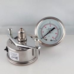 Stainless steel pressure gauge 4 Bar dn 50mm u-clamp