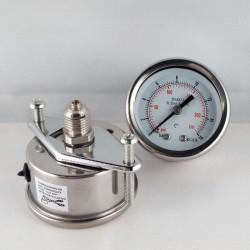 Stainless steel pressure gauge 16 Bar dn 50mm u-clamp