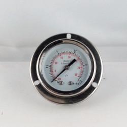 Stainless steel pressure gauge 2,5 Bar diameter dn 50mm flange