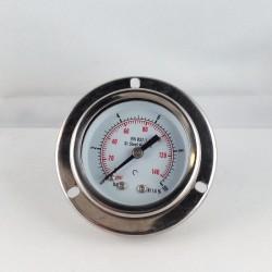 Stainless steel pressure gauge 10 Bar diameter dn 50mm flange
