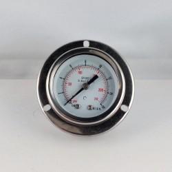 Stainless steel pressure gauge 16 Bar diameter dn 50mm flange