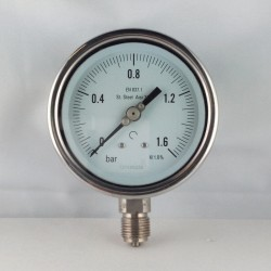 Manometro Inox 1,6 Bar diametro dn 100mm radiale