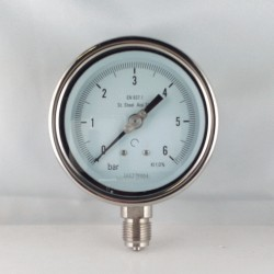 Manometro Inox 6 Bar diametro dn 100mm radiale