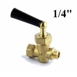 """Portamanometro in ottone da 1/4""""Gas"""