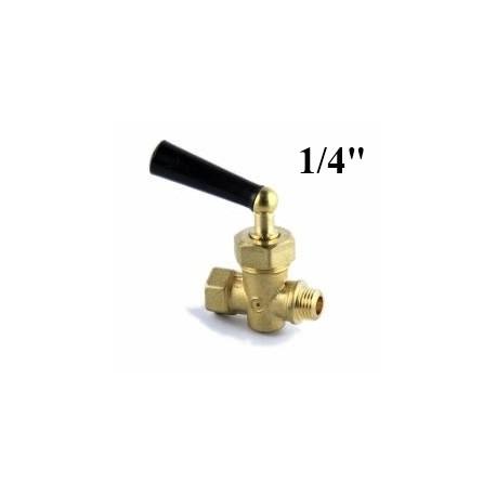 "Brass needle valve for gauge 1/4""Gas"