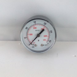 "Dry pressure gauge 315 Bar diameter dn 50mm back 1/4""Bsp"