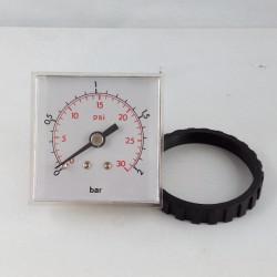 Manometro quadrato da pannello 2 Bar 48x48mm con ghiera