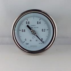 Vuotometro Inox -1 Bar diametro dn 100mm posteriore