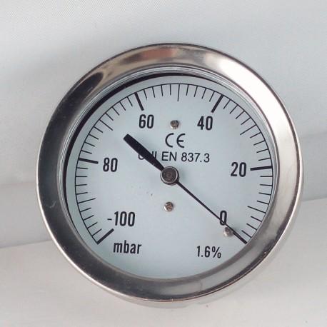 Vacuum Gauge 100 MBar Diameter Dn 63mm Back