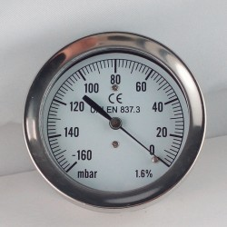 Vuotometro -160 mBar diametro dn 63mm posteriore