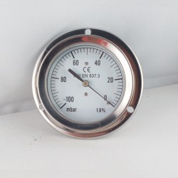 Vacuum gauge -100 mBar diameter dn 63mm back